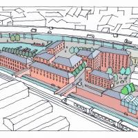 Artist's impression of proposals for the Chance site