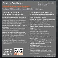 Urban Design Group Events Electric Vehicles - Infrastructure and Impact