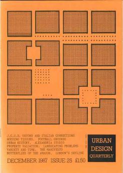 URBAN DESIGN 25 Winter 1997 Publication Urban Design Group