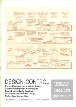 URBAN DESIGN 44 Autumn 1994 Publication Urban Design Group