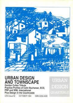 URBAN DESIGN 52 Autumn 1994 Publication Urban Design Group