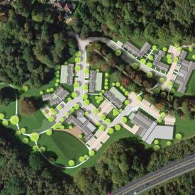 Care village masterplan, Kent Project Images