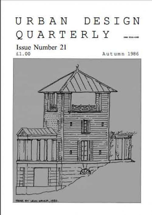 URBAN DESIGN 21 Autumn 1986 Publication Urban Design Group