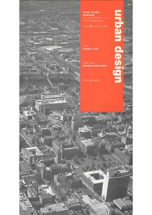 URBAN DESIGN 72 AUTUMN 1999 Publication Urban Design Group