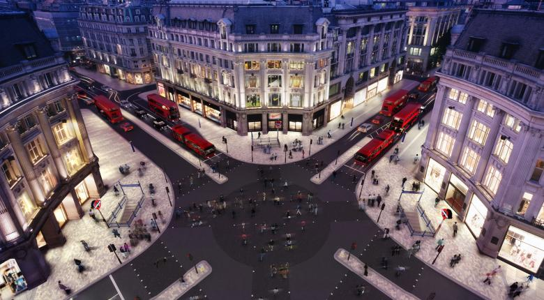 Oxford Circus Diagonal Crossing Project Images
