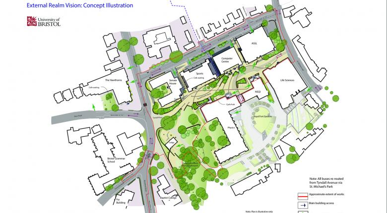 Tyndall Avenue Public Realm, University of Bristol  Project Images