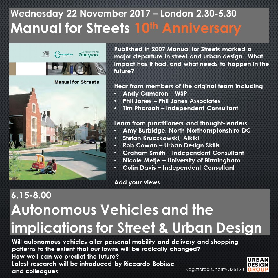 Manual for Streets - Autonomous Vehicles - 22 November
